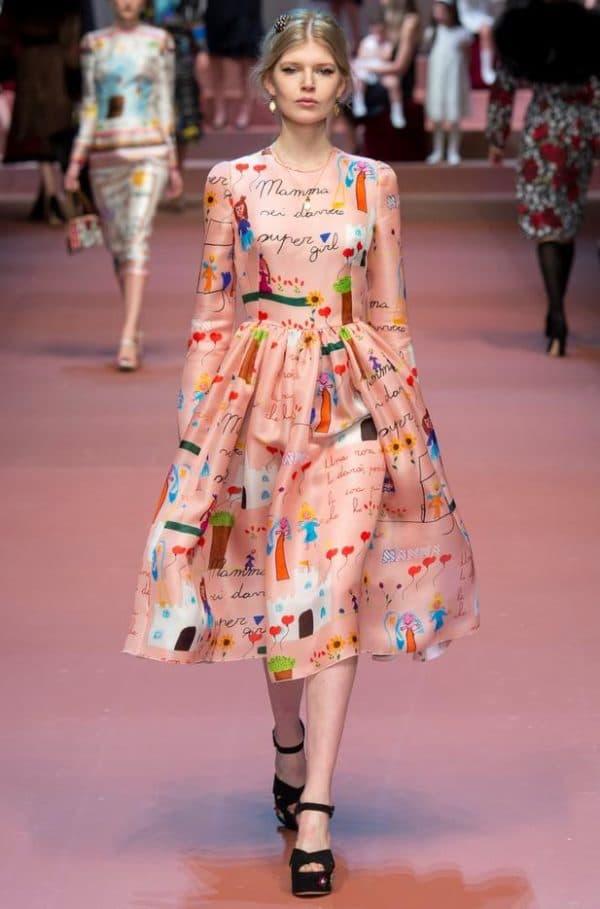 модное платье длины миди
