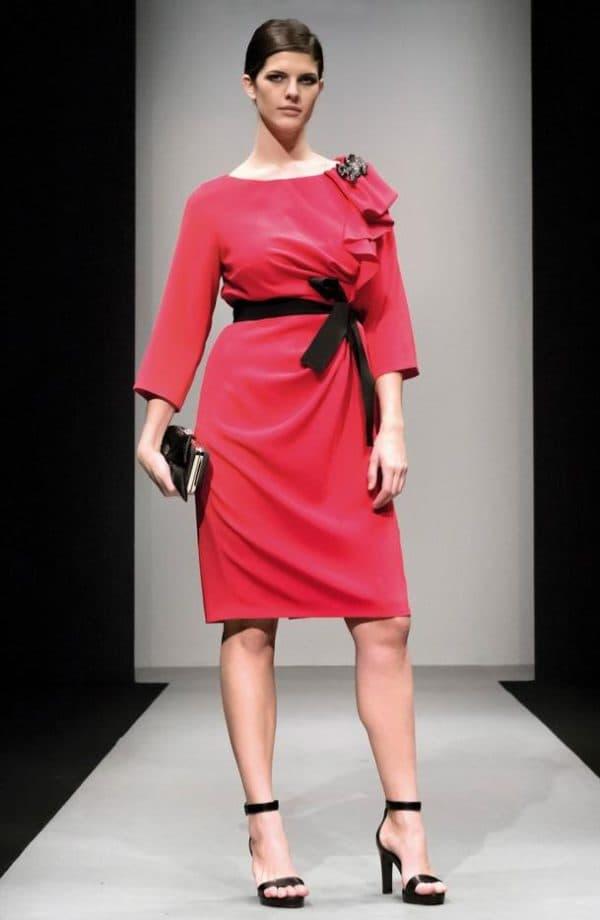 Модное платье на полных женщин