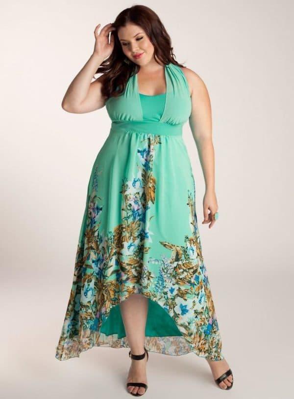 Вечернее платье ассиметричное для полных