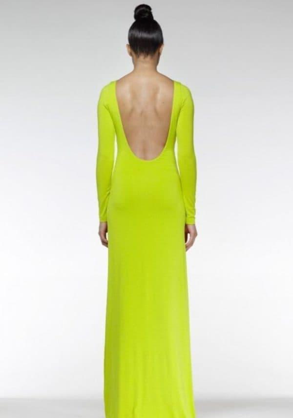 Летнее зеленое платье в пол