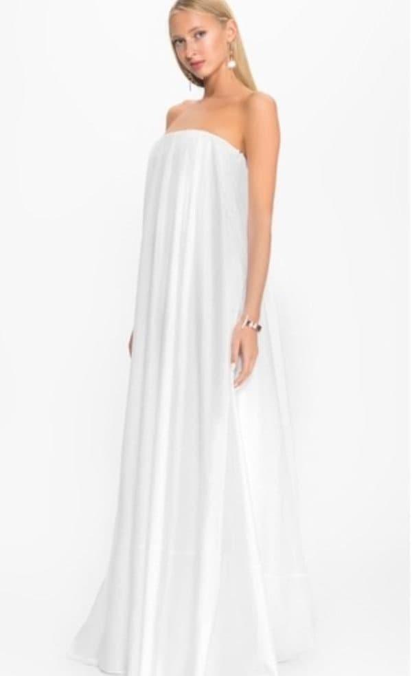 Белое платье в пол на выпускной
