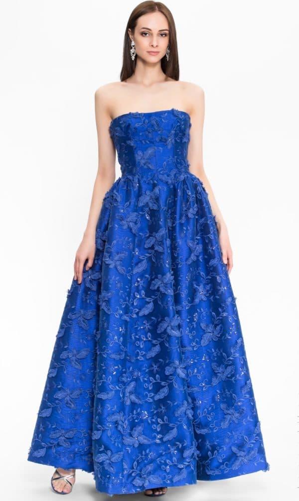 Выпускное платье в пол без бретелей