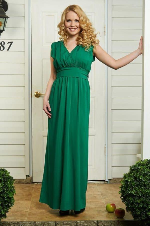 Прямое платье в пол без оукавов для беременной