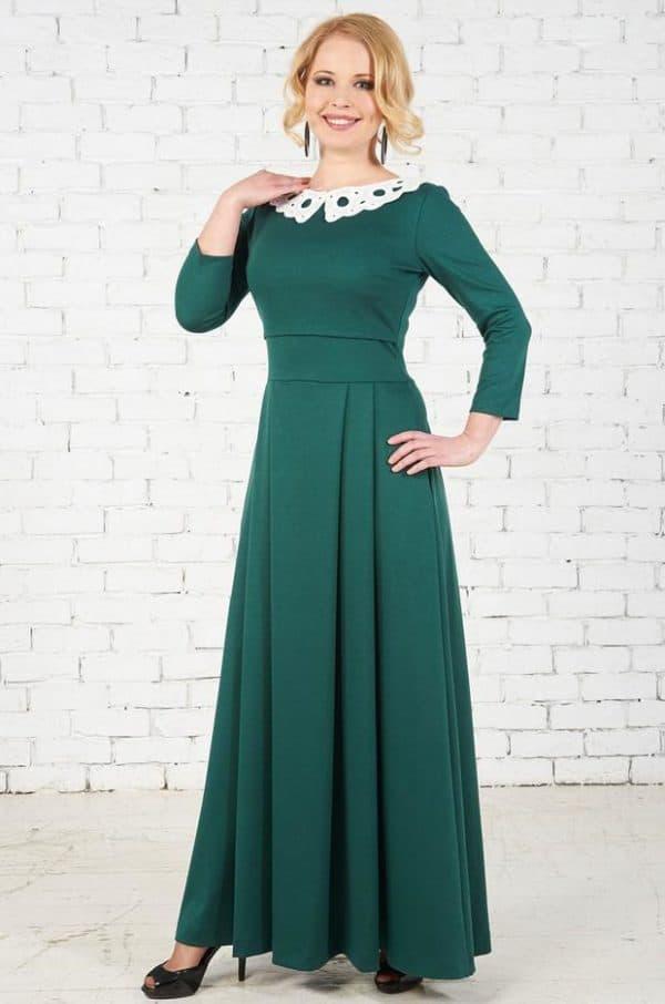 Длинное платье для беременной на зиму