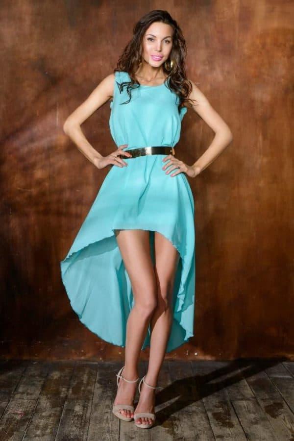 Шьем платье короткое спереди длинное сзади