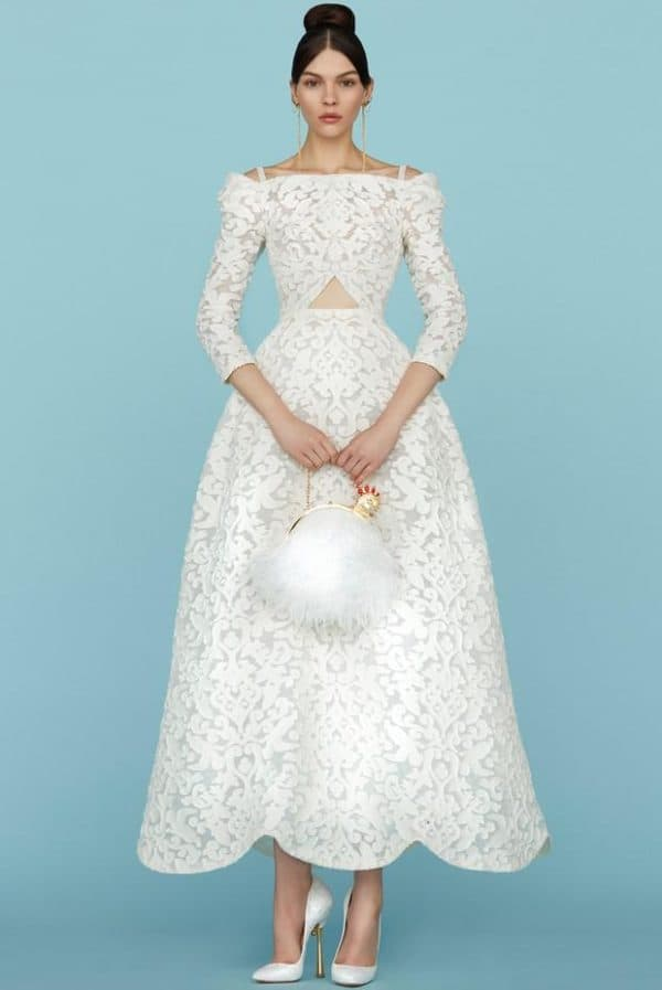 Кружевное свадебное платье Ульяна Сергеенко