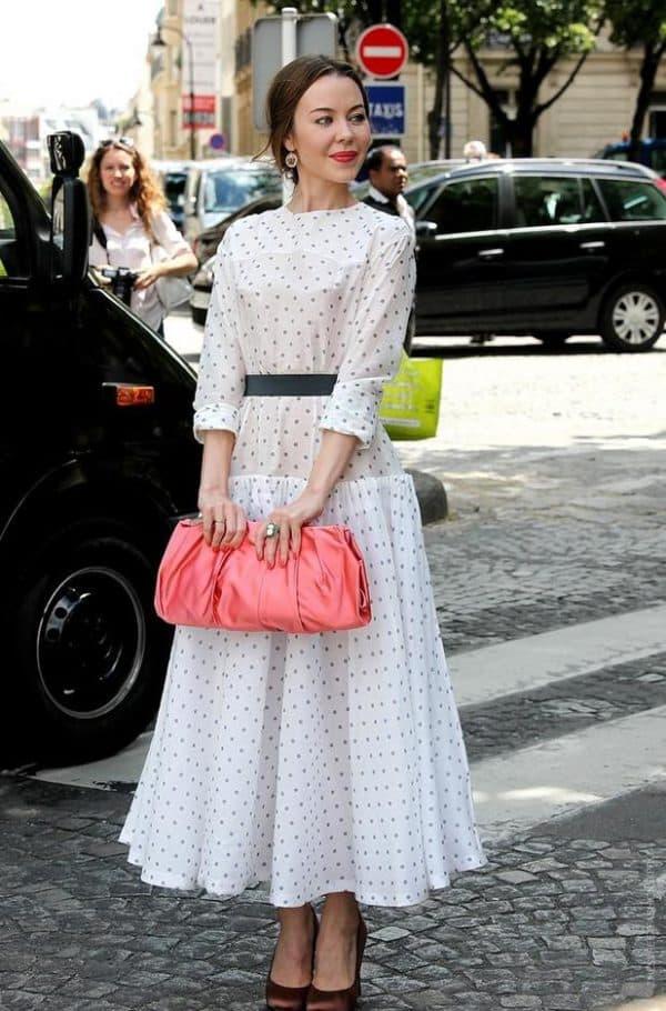Платье в горошек от Ульяны Сергеенко