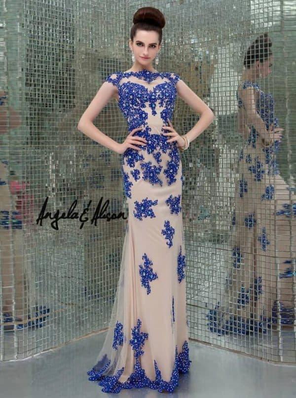 Кружевное платье в пол цветное
