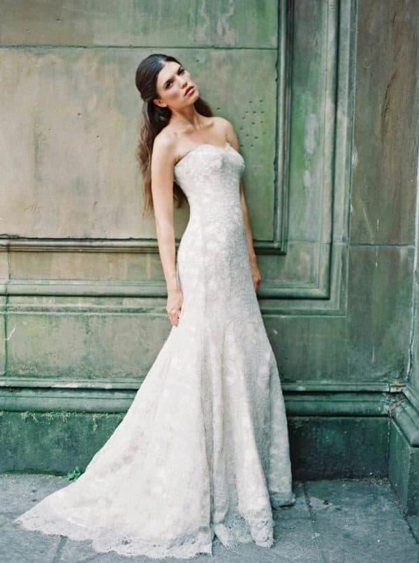 Дизайнерское свадебное платье цвета айвори