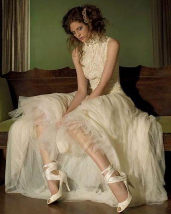 Винтажное свадебное платье цвета слоновой кости