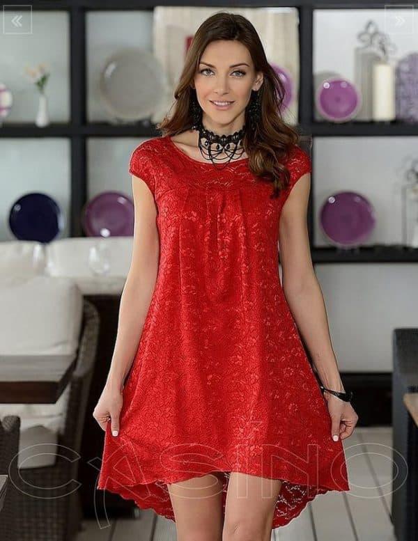 Красное короткое платье