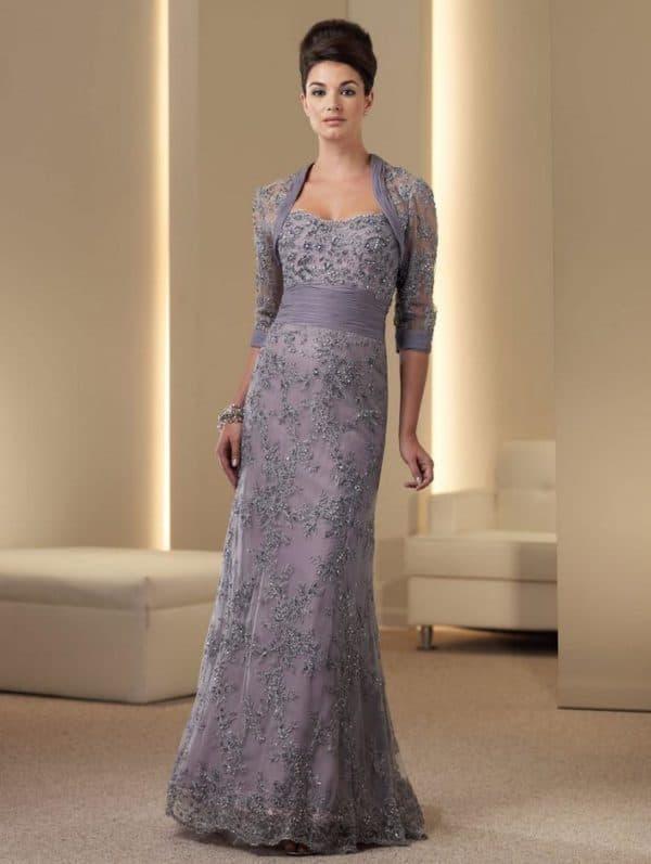 Вечернее платье в пол для мамы на свадьбе