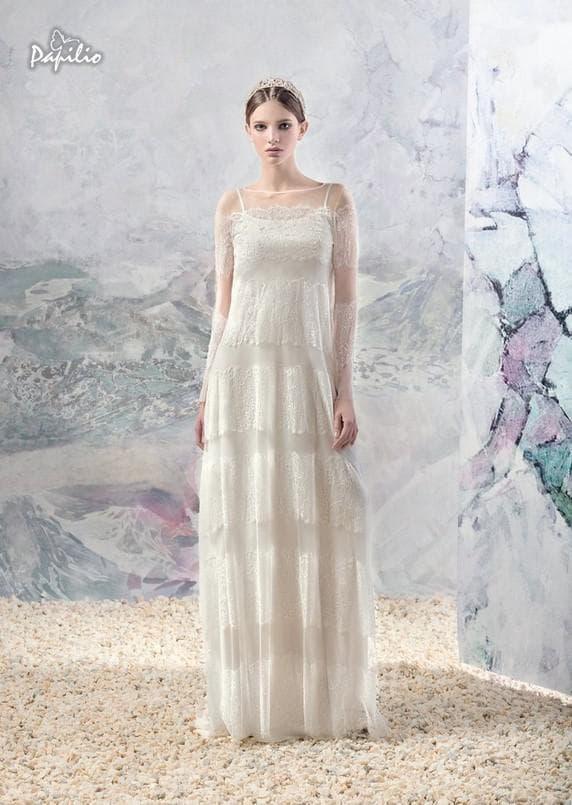 Прямое свадебное платье Папилио