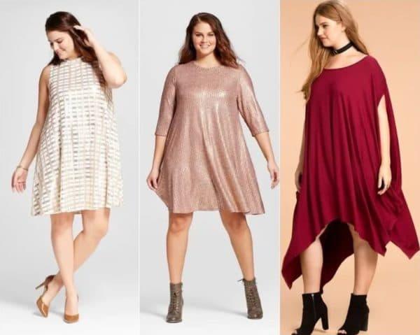 Праздничные платья-туники для полных