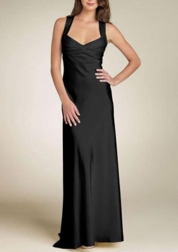 Calvin Klein длинное черное платье