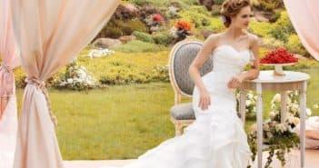 Платье русалка для невесты с кружевом