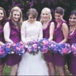 Фиолетовые платья подружек невесты: ярко, стильно, необычно