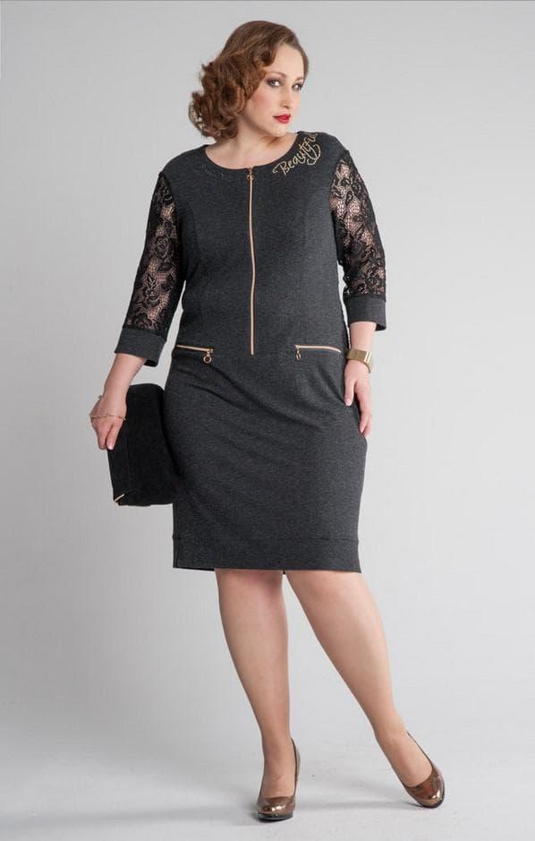 Модель платья averi для полных девушек