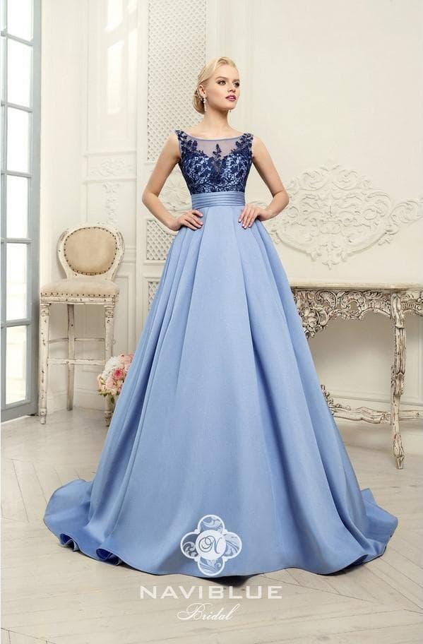 Синее палтье Нави Блю для невесты