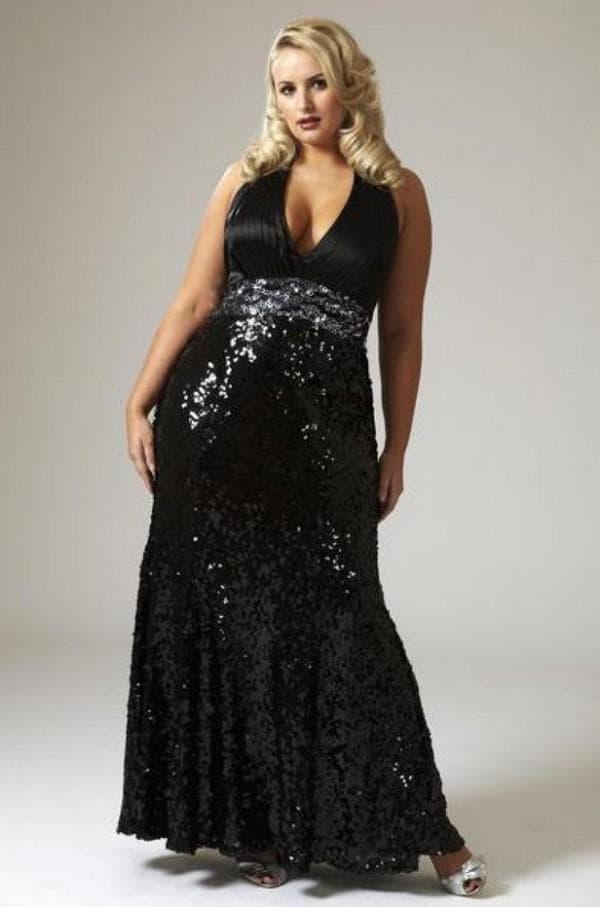 Длинное черное платье для леди