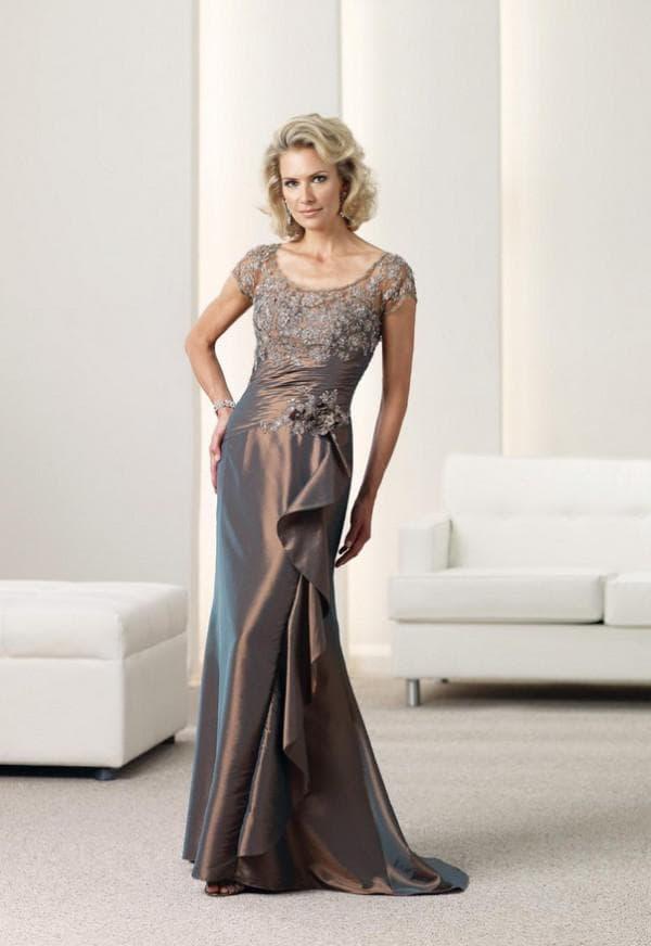 Платье шоколадного цвета для мамы жениха