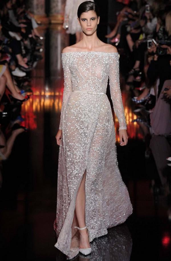 дерзкое свадебное платье Elie Saab
