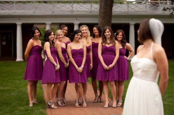 Подругие невесты разные платье одно