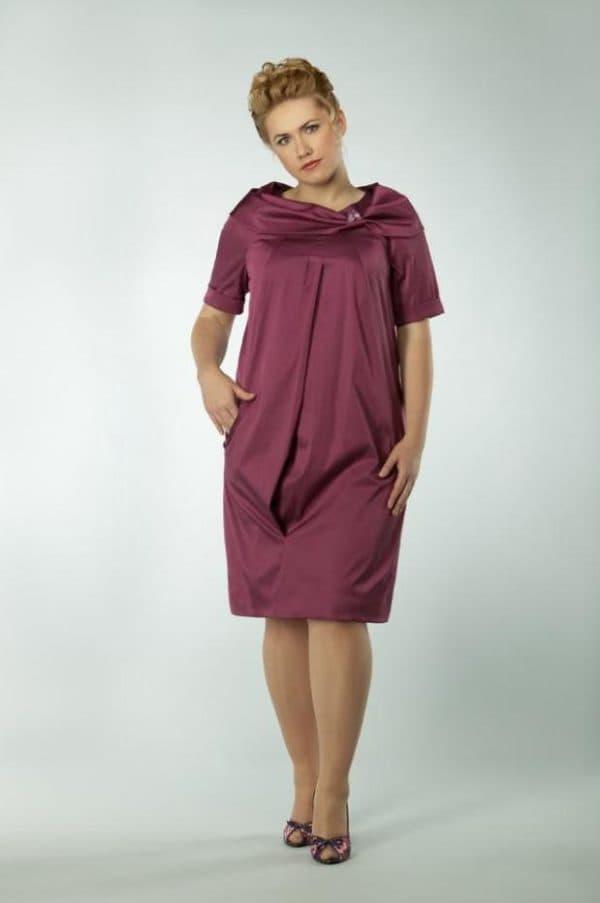 Бордовое платье на 50-летний юбилей
