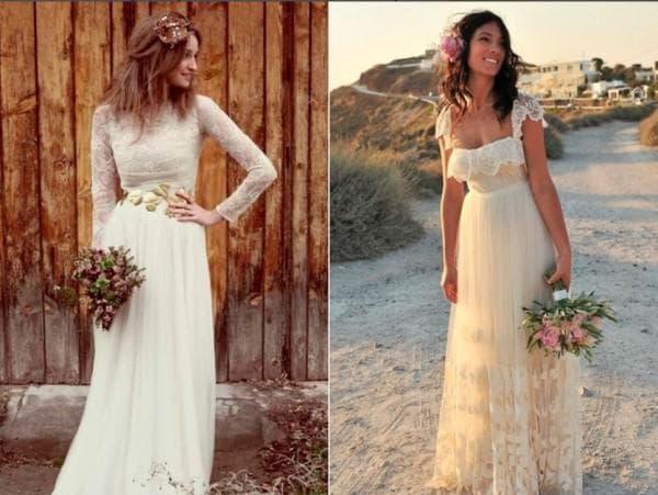 Платья в стиле рустик для невесты