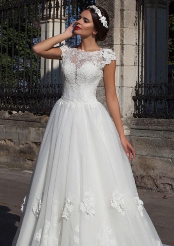 Пышное свадебное платье Crystal design