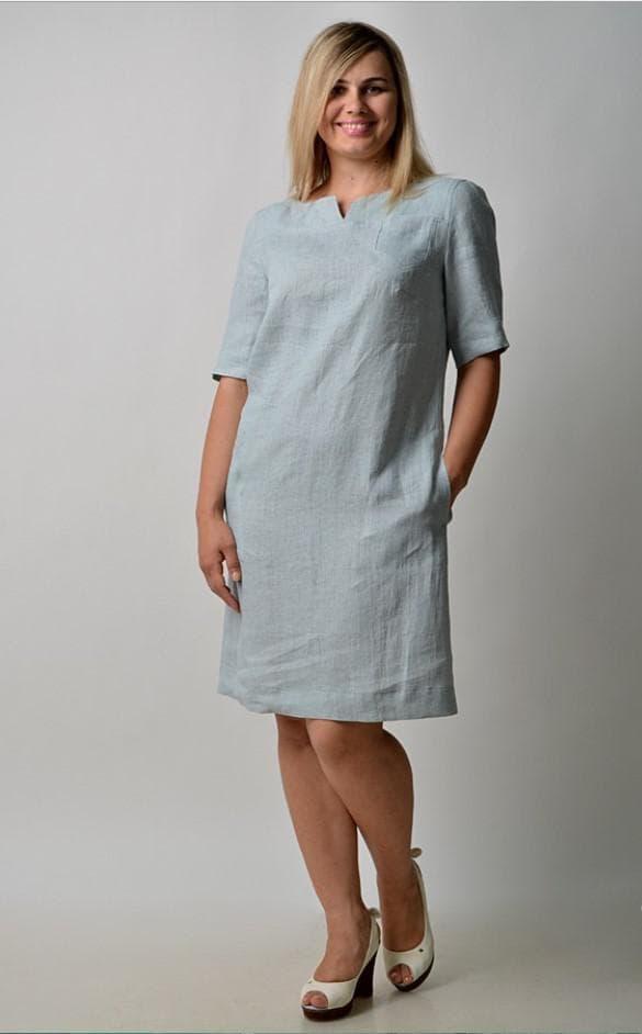 Платье для пышной девушки изо льна