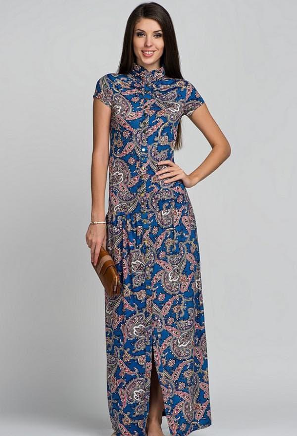 Платье-рубаха в пол