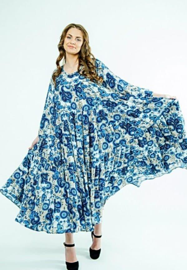 Платье разлетайка из штапеля