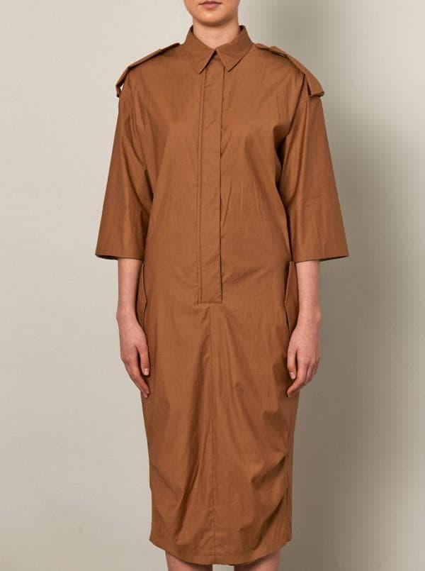 Удлиненно платье балахон каштанового цвета