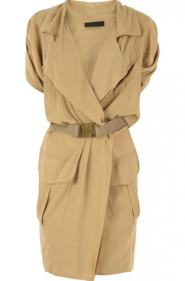 Платье сафари для полных леди