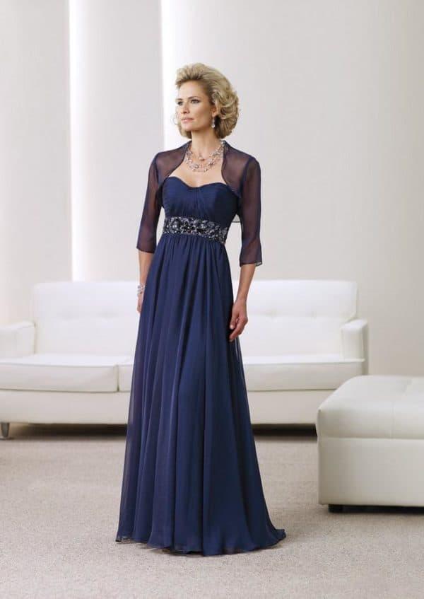 Синее платье для мамы жениха