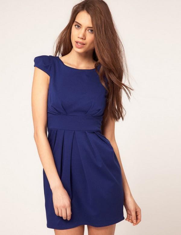 Платья синего цвета для старшеклассниц
