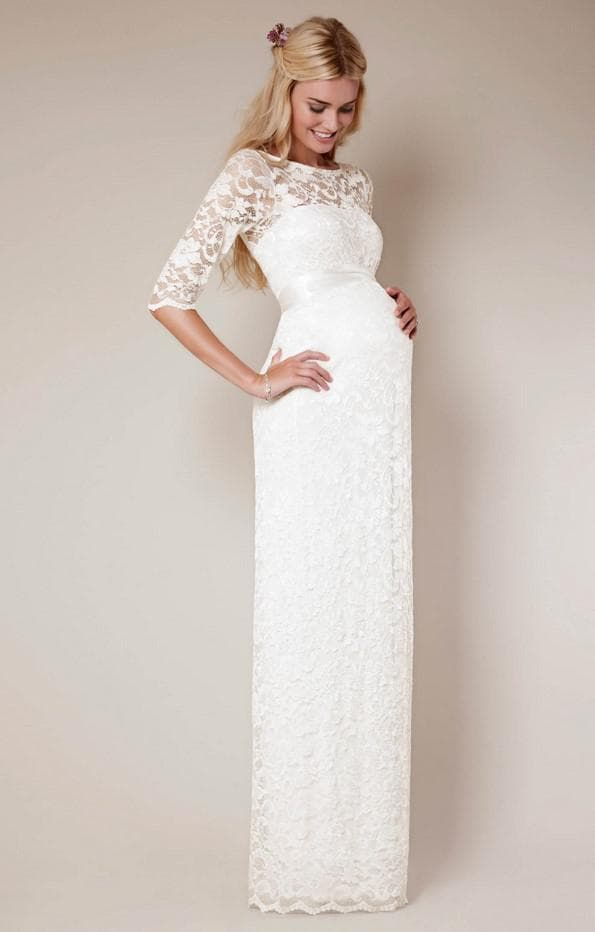 Прямое платье для невесты в положении