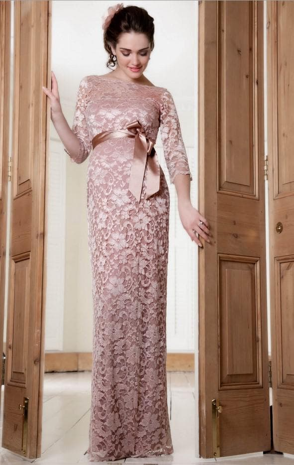 Вечернее роскошное платье для беременной