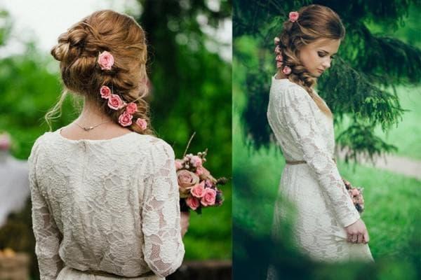 Образ в стиле рустик на свадьбу