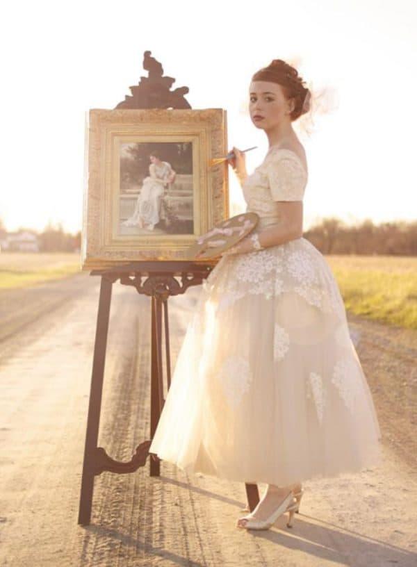 свадеьное платье стиль винтаж фасон 50-х годов