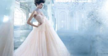 Платье невесты с баской
