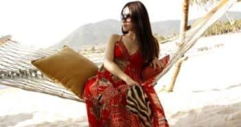 Платье в пол для пляжа