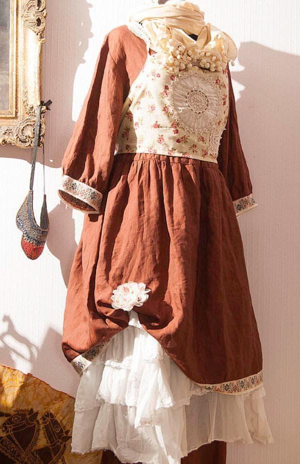 многослойное платье бохо