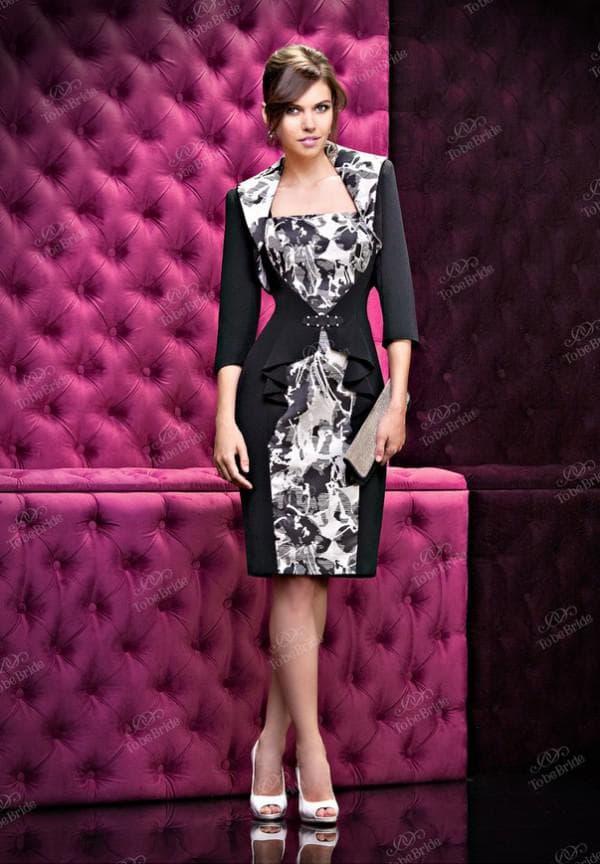 вечернее платье в черно-белой гамме