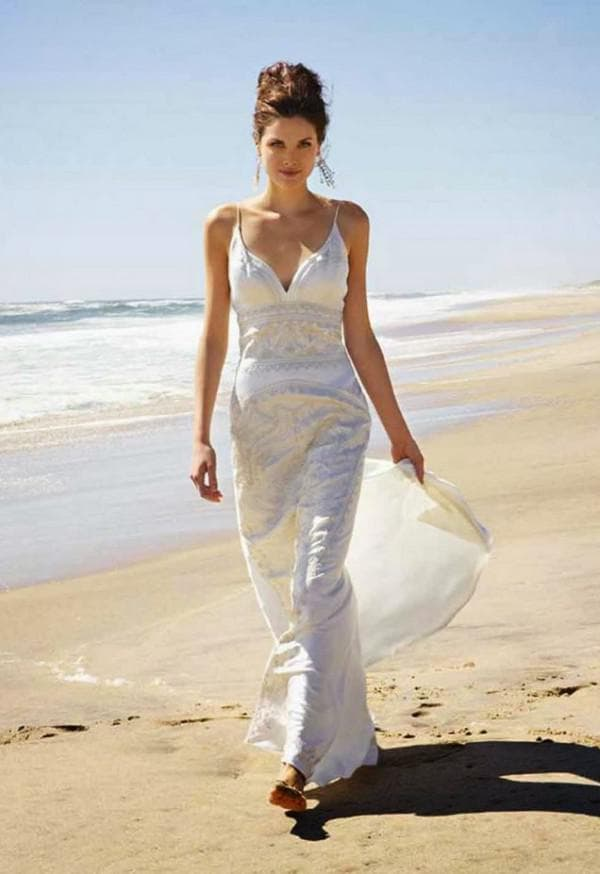 свадебное платье на пляж