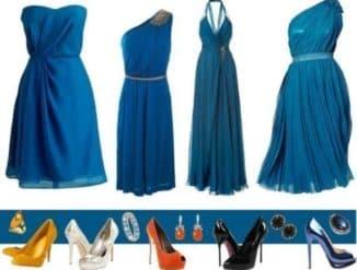 Синий разных оттенков и туфли
