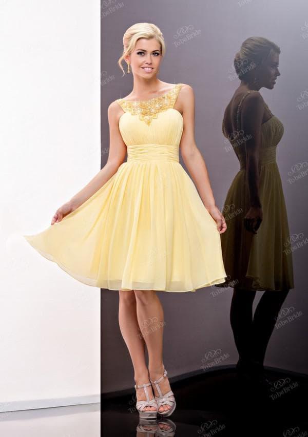 желтое короткое платье то би брайт