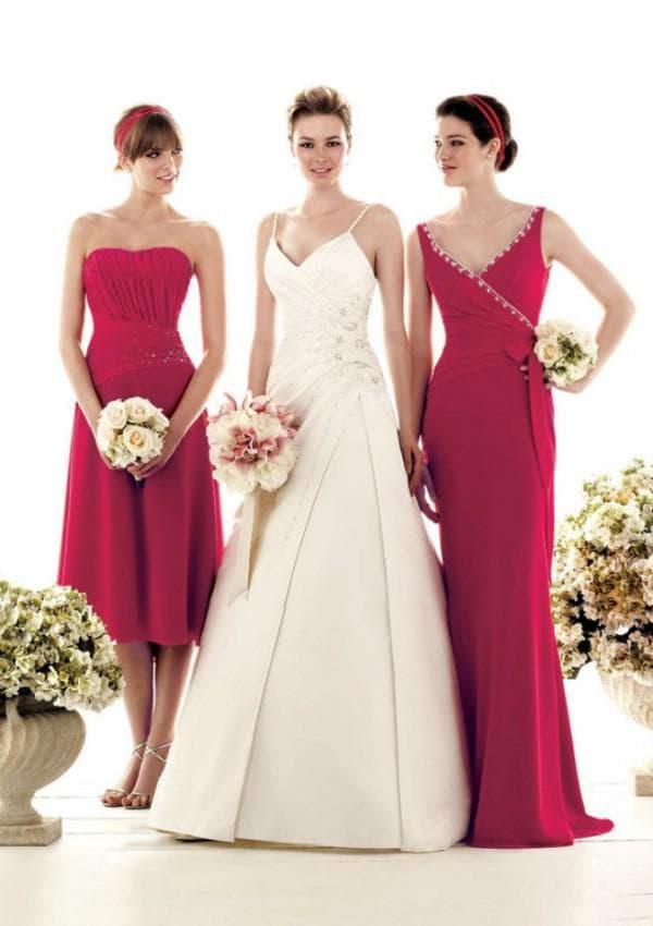 красные вечерние платья для похода на свадьбу к подруге