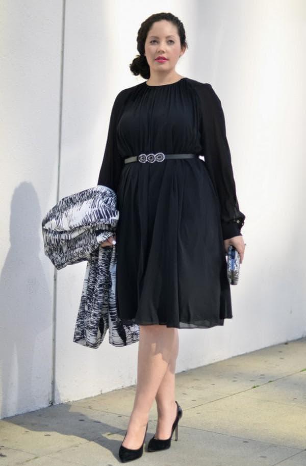 маленькое черное платье для полной красавицы